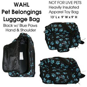 Black Blue WAHL Small Posh Pet Apparel Toy Bag
